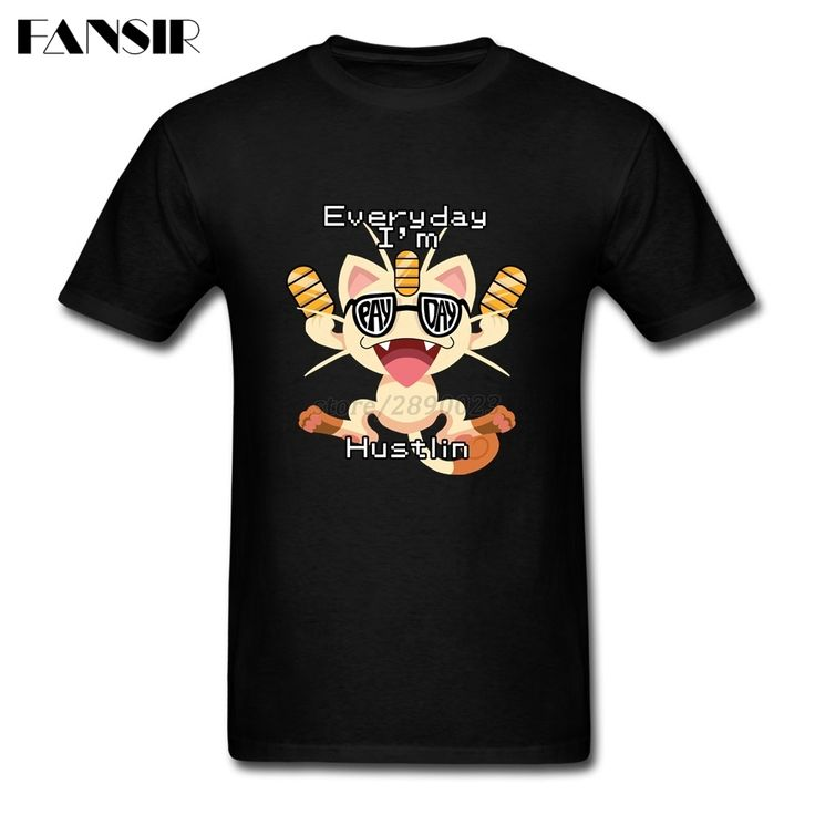 >> Click to Buy << Men Man's T-shirt Every Day Is Payday Pokemon Top Designed Brand Clothing Cat Anime White Short Sleeve Custom XXXL #Affiliate