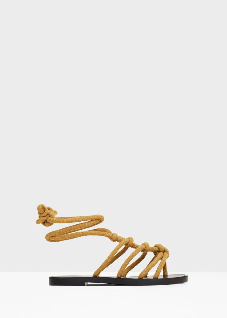 Interwoven cord sandals - Shoes for Women   MANGO USA
