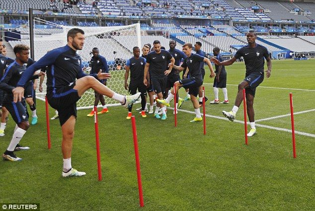 France train at Stade de France as Euro 2016 hosts prepare for opener
