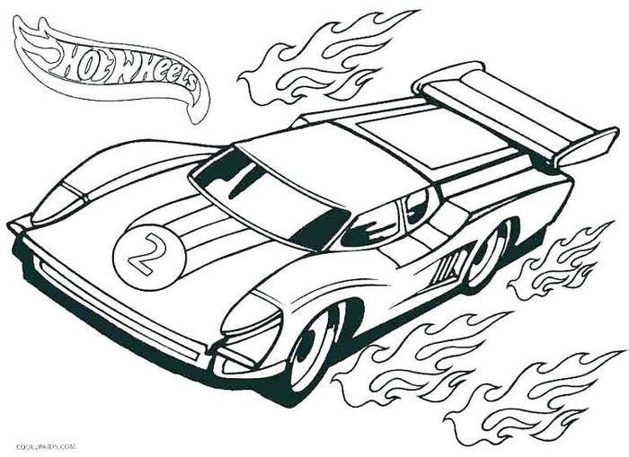 Simple Car Coloring Pages Pdf
