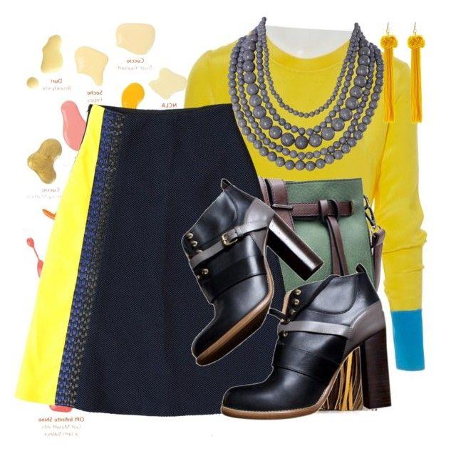 Roksanda Ilincic by valeriac on Polyvore featuring polyvore fashion style Roksanda Chloé WithChic Humble Chic clothing internationalwomensday pressforprogress FemaleDesigners ByWomenForWomen