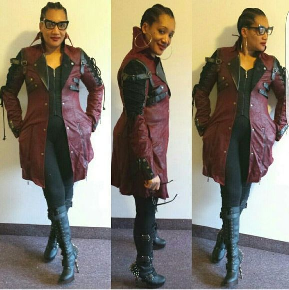 Nina's Gothic jacket Red and Black Jackets & Coats