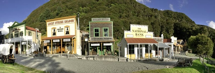 Old West Town Mellonsfolly Guest Ranch Central North Island New Zealand