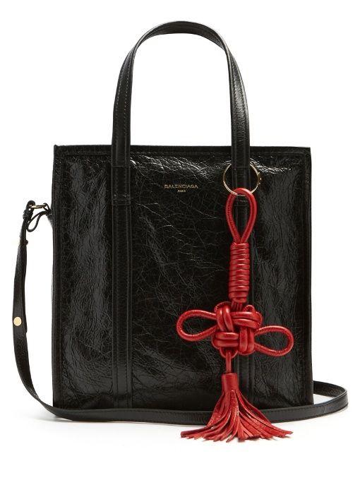 Balenciaga Bazar small grained-leather tote