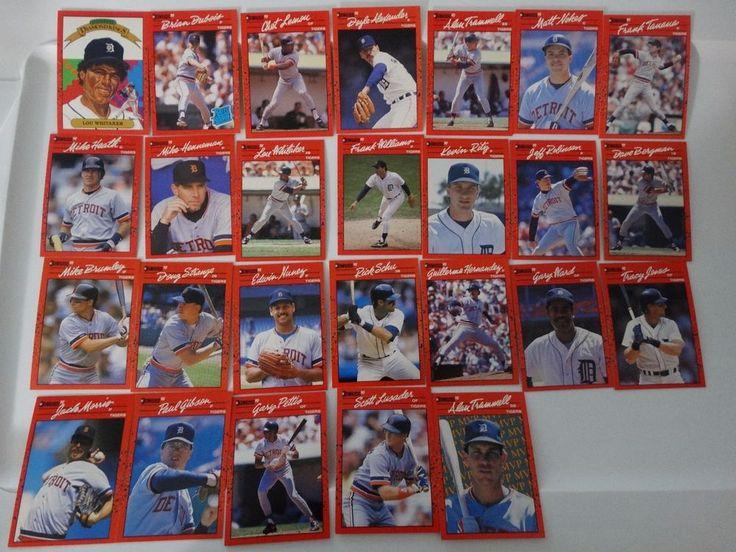 1990 donruss detroit tigers team set of 26 baseball cards