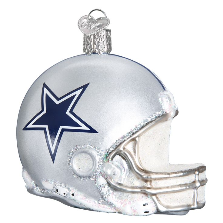 Dallas Cowboys Helmet Glass Ornament