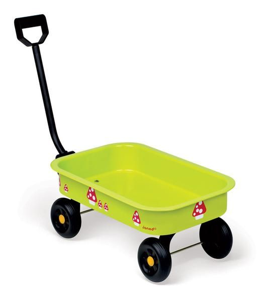 It is wonderful spending time in the garden helping with the jobs to be done. This little Metal Wagon is just the thing for the little ones.The wheels are soli