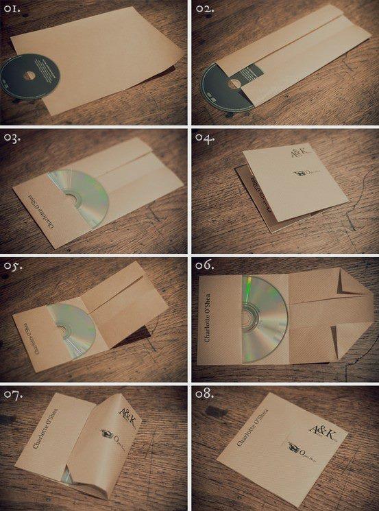 Organize | CDs :: Make a CD Case from a piece of printer paper | #lifehacker #tutorial