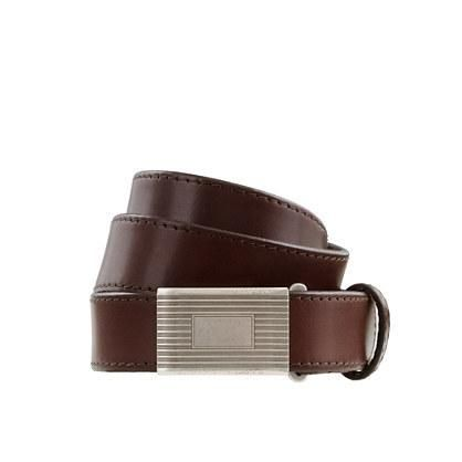 This belt is polished in a playful way thanks to the cool rustic leather (it's the good stuff that gets even better with age). Another feature we love? It's adjustable you can slide it... More Details