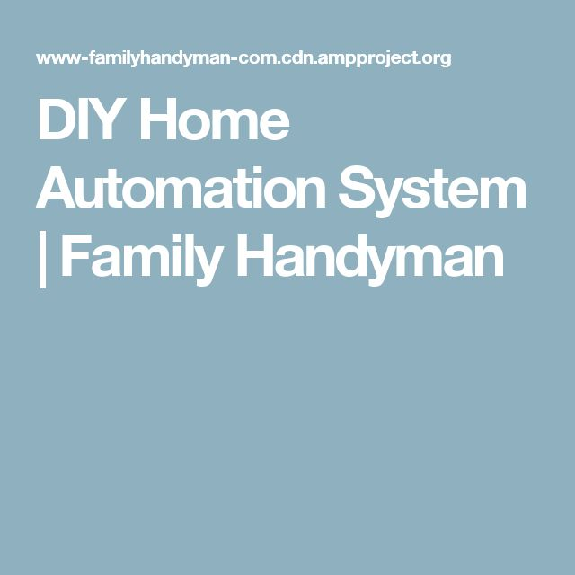 DIY Home Automation System | Family Handyman
