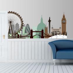 Λονδίνο, περίγραμμα με μοναδικά χρώματα,αυτοκόλλητο τοίχου,19,80 €,http://www.stickit.gr/index.php?id_product=762&controller=product