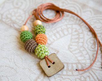 Pulsante di cocco pendente  collana di professione di bysiki