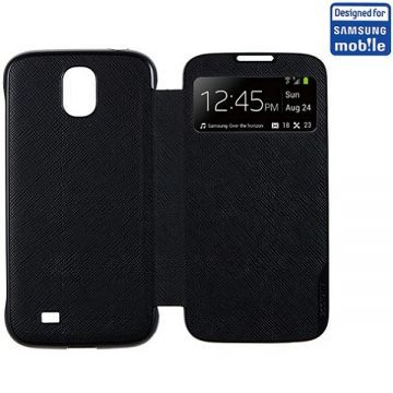 Husa Anymode Single View Neagra Samsung Galaxy S4 - Huse