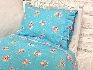 DIY Shabby Style Bedding for American Girl Doll