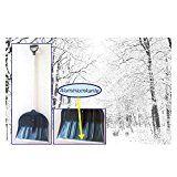 Schneeschieber mit Kunststoffschaufel und Aluminiumkante, Hart-PVC, Holzstiel