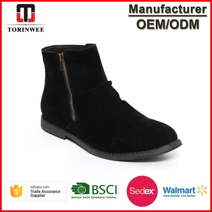 2017 New Design Mens Microsuede Zipper Winter Mens Boots Shoes