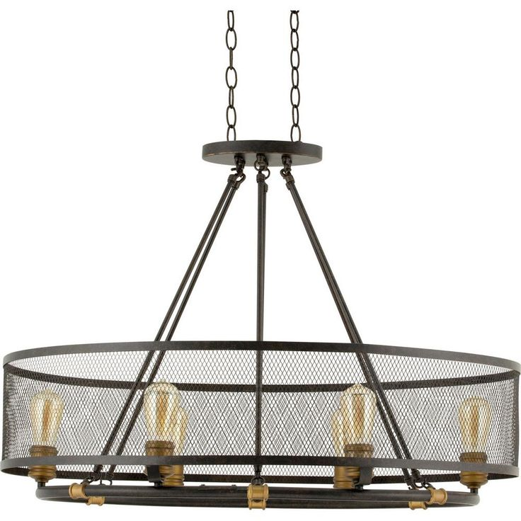 Home Decorators Collection Mayfield Park Collection 6 Light Forged Bronze Oval Chandelier