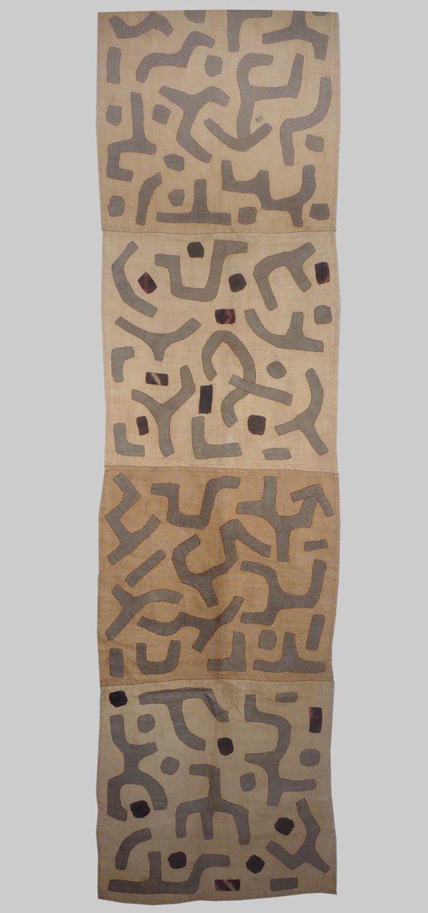 A fragment of a Kuba rafia applique skirt, Zaire late 20th century - Esther Fitzgerald Rare Textiles