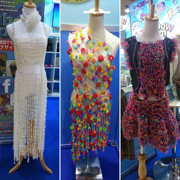 Rainbow Loom Dresses at Tokyo Fashion World 2015. Designed by Mr. Takeuchi. #RLWears