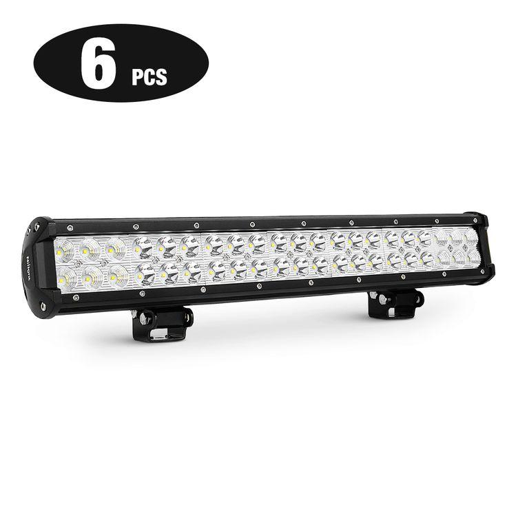 Nilight 6PCS 20 Inch 126W Combo LED Light Bar, 2 Years Warranty