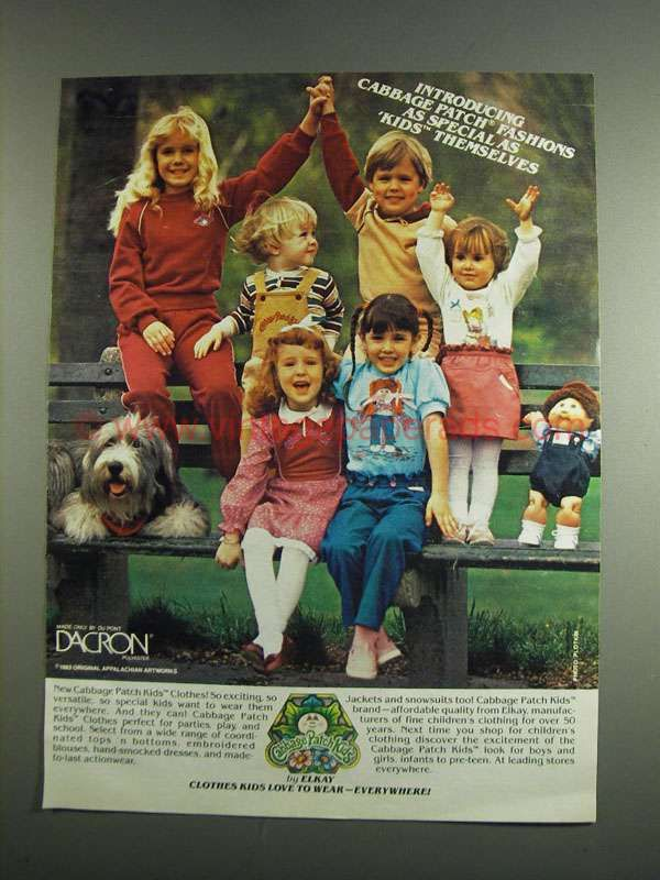 Dv0823 1984 Cabbage Patch Kids Clothes Ad As Special Cabbage Patch Kids Clothes Cabbage Patch Kids Vintage Kids Fashion
