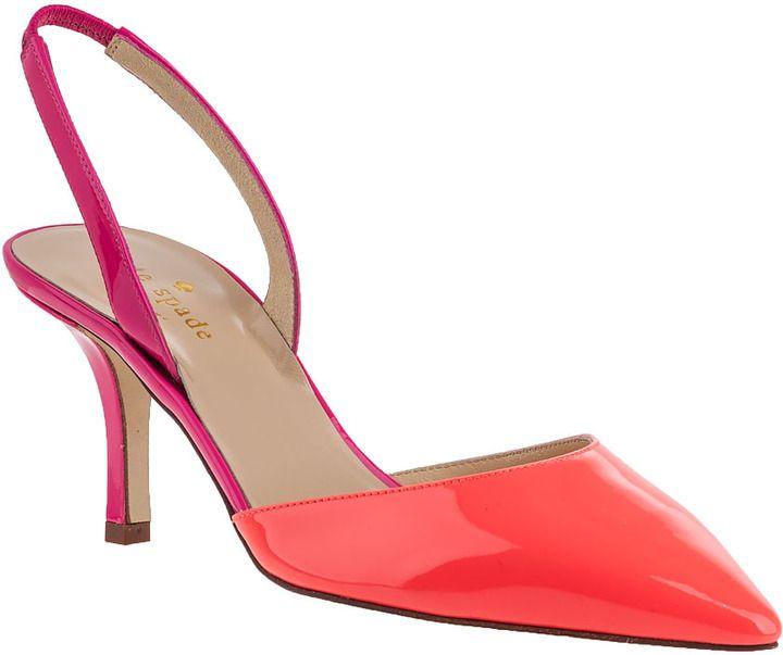 KATE SPADE Jeanette Slingback Lipstick Pink Patent