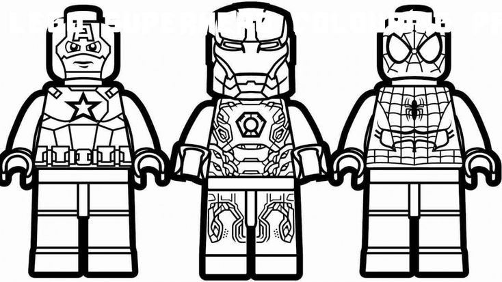 7 Lego Superhero Colouring Pages in 2020   Avengers ...