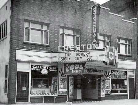 This is what the building across the street looked like in its heyday as the Creston Theater. Cinematreasures.org has a lot of information about old movie theaters in your area and what became of them.