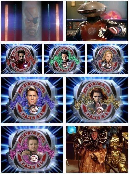 Avengers + Power Rangers = so much win!