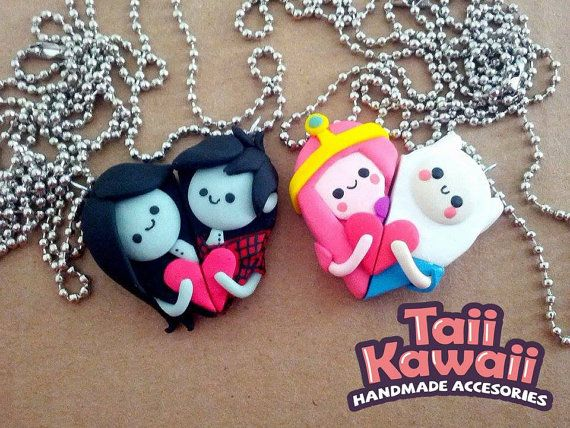 Adventure time couple necklaces by TaiiKawaiiOfficial on Etsy