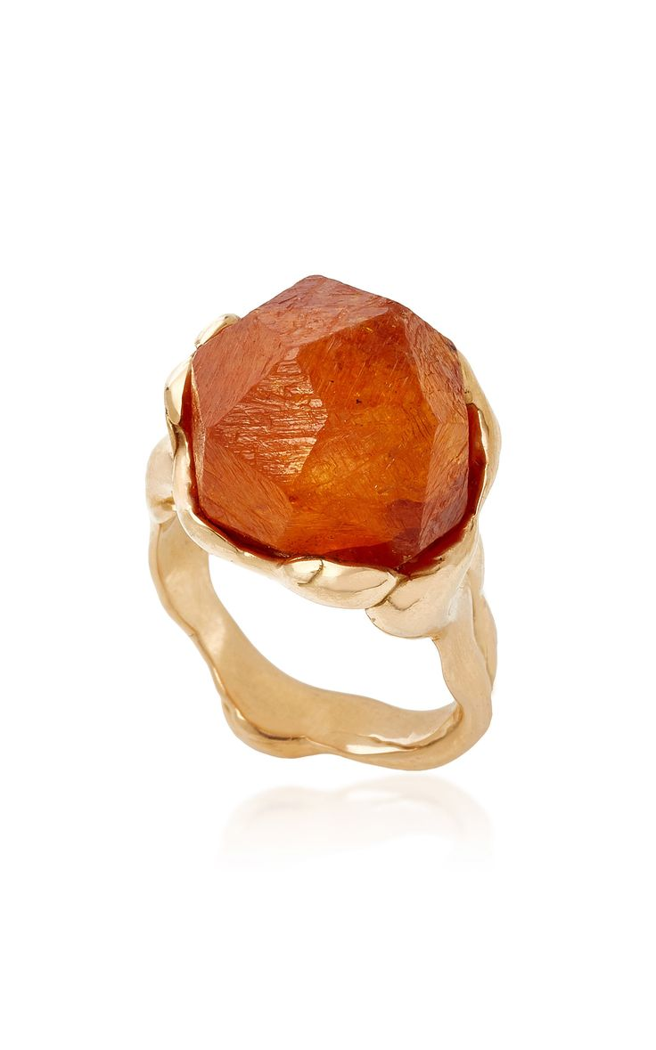 Shop Lucifer Vir Honestus #Crystal #Ring With Mandarin Garnet #affiliate