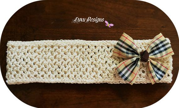 Crocheted Baby Headband by Luxu2012 on Etsy