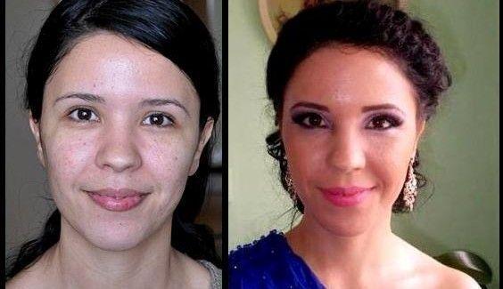 Before & After Ana Olariu make-up