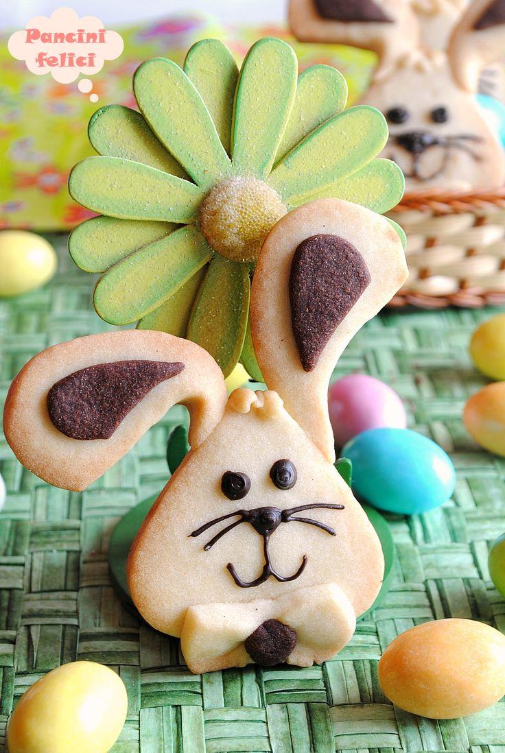 biscotti coniglietto di pasta frolla