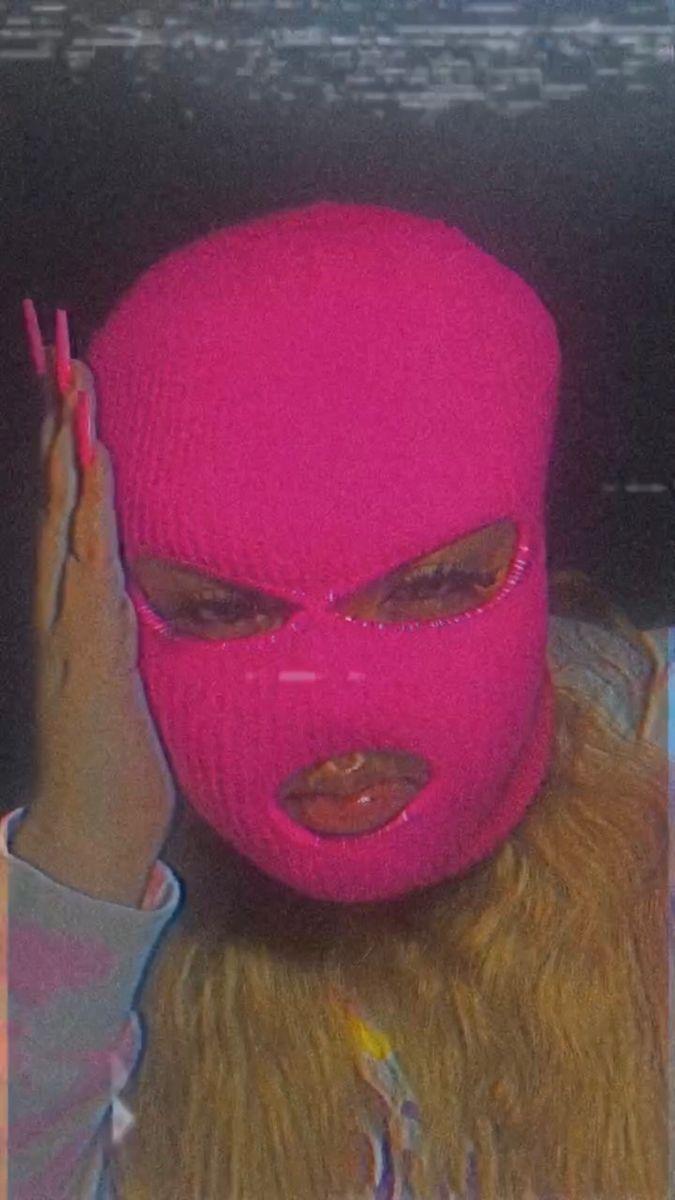 Gangster Girl Baddie Pink Ski Mask Aesthetic : gangster, baddie, aesthetic, Mask💗, (Instagram:@itsmaliaa), Girl,, Aesthetic,, Badass, Aesthetic