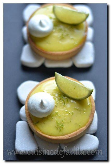 tartelettes au citron vert - cuisine de Fadila