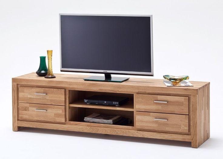 Lowboard Santos TV-Schrank Asteiche massiv 8209. Buy now at https://www.moebel-wohnbar.de/lowboard-eiche-massiv-santos-tv-schrank-holz-asteiche-geoelt-8209