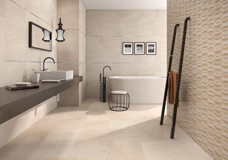 Ge ditt badrum lite lyxig hotellkänsla med högblanka, varma serien Brancato.