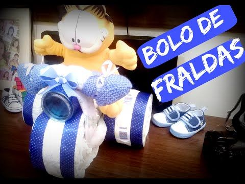 Bolo de Fraldas - Triciclo / Diaper Cake Tricycle - ( Amor de Família ) - YouTube