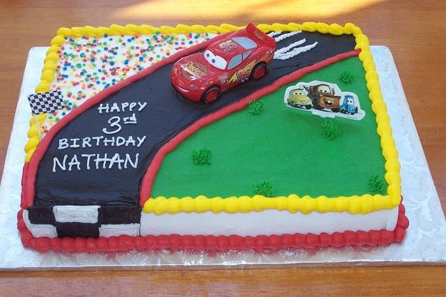 cars birthday sheet cake