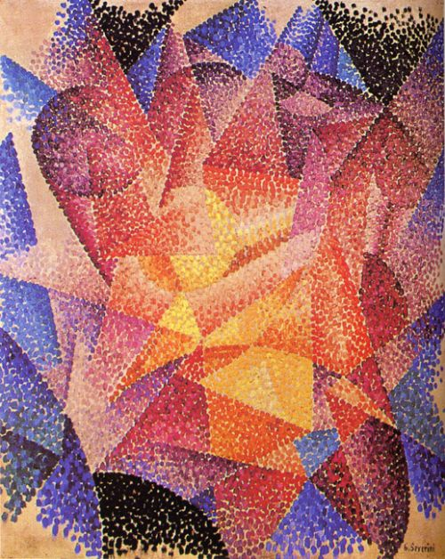 """Spherical Expansion of Light (1913-14) by Gino Severini - Italian Futurism - Viewed as part of the exhibition """"Italian Futurism, 1909–1944: Reconstructing the Universe at the Guggenheim Museum, NYC, NY 3/1/14"""
