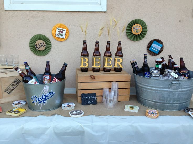 Beer party decorations