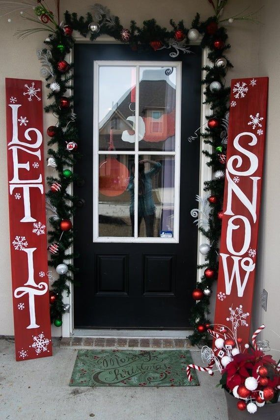 Let It Snow Sign Outdoor Christmas Decorations Front Door Decor Christmas Decor Outdoor Christmas Decor Winter Decor Yard Decorations Front Door Christmas Decorations Christmas Front Doors Outdoor Christmas Decorations