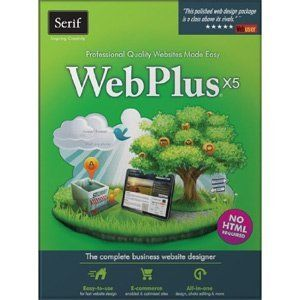 WebPlus X5 is the ultimate website design software, ideal for small businesses, organizations and home users. Drag-and-drop simplicity, an intuitive interface,and powerful tools help you design sites easily, even if you've never done it before. Everything you need to create a professional-quality website is in this one box. Price: $33.49