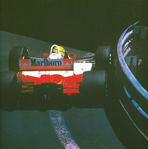 zero margin. #Senna #Monaco