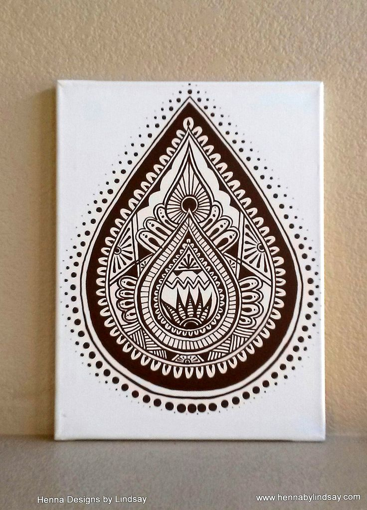 Henna Art! Today I Painted One Of My Henna Designs On Canvas With Acrylic. Custom Mural Services Coming Soon! -www.hennabylindsay.com