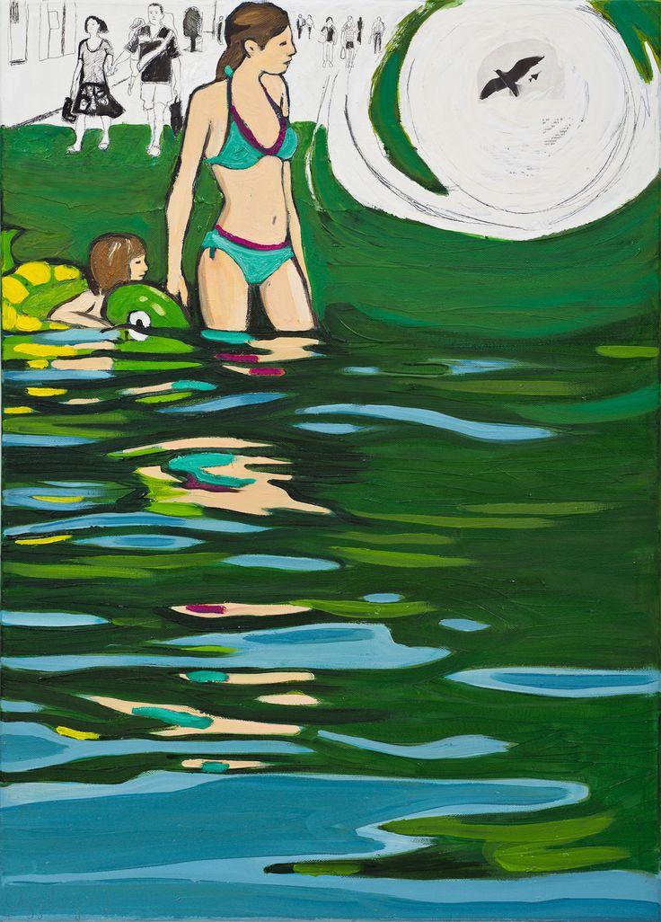 Osgyanyi Sara Mikor érkezel- 2012 olaj-vászon 70x50