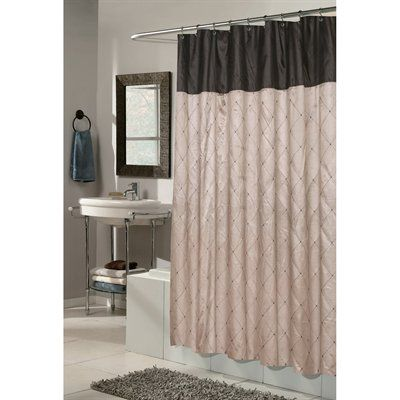 Carnation Home Fashions FSCDIM Balmoral Fabric Shower Curtain