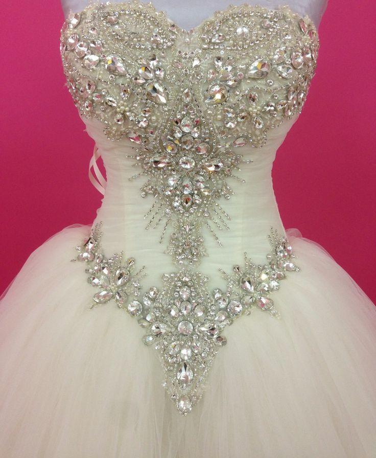 Crystal Wedding Dress Princes Wedding DressCorset