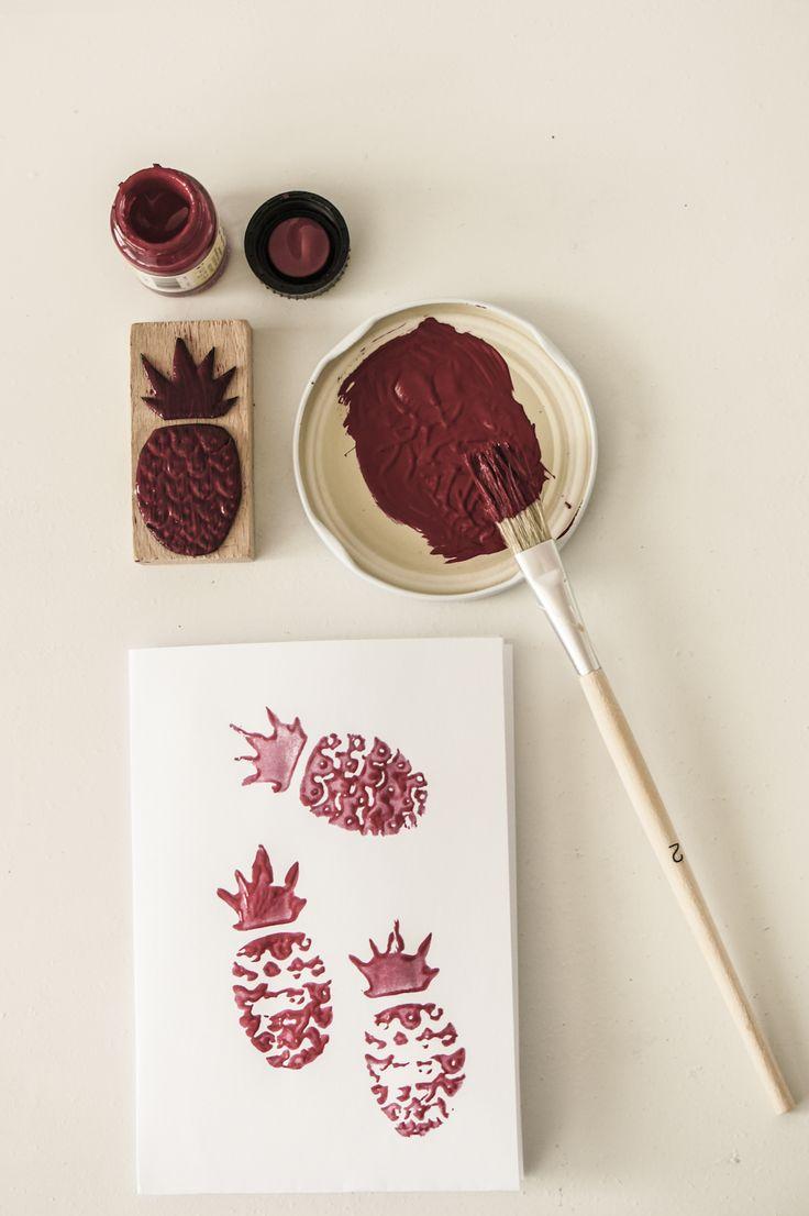 Jak zrobić ananasowe pieczątki – DIY / Stamps in pineapples -DIY http://kukumag.com/pl/